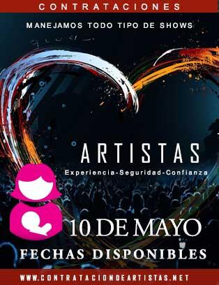artistas fechas 10 de mayo